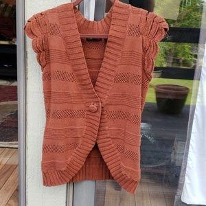 BCBGMaxazria cap sleeve sweater
